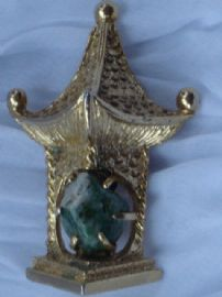 1960's  BSK Marked Chinese Lantern Pin